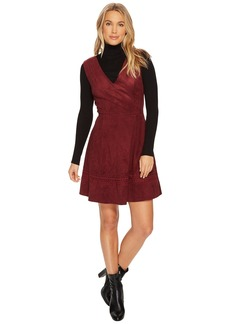 BB Dakota Lynne Faux Suede Fit & Flare Dress