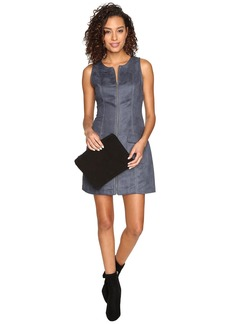 BB Dakota Marceline Faux Suede Front Zip Dress