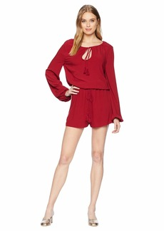 BB Dakota On A Mission Rayon Crepe Tassel Tie Romper