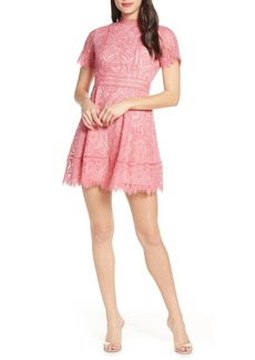 BB Dakota On List Short Sleeve Lace Fit & Flare Dress