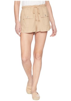 BB Dakota Paisley Cargo Shorts with Rope Belt