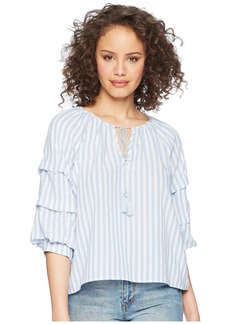 BB Dakota Palmer Striped Cotton Top