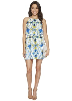 "BB Dakota Peggy ""Desert Oasis"" Printed Poly CDC Halter Dress"