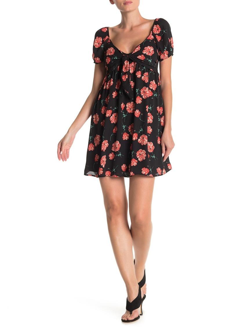 BB Dakota Pretty in Poppies Mini Dress