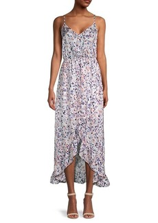 BB Dakota Printed High-Low Midi Dress