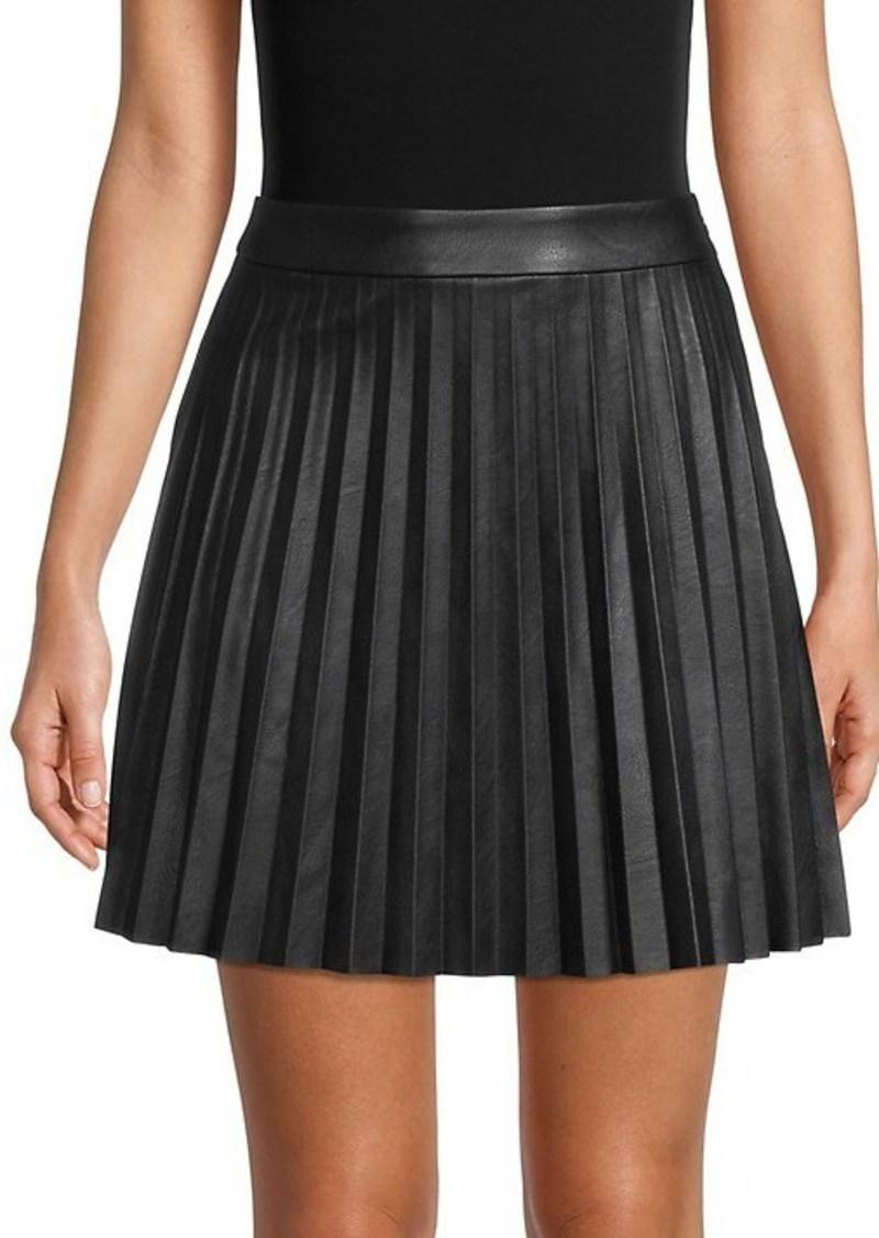 BB Dakota Private School Faux Leather Pleated Skirt