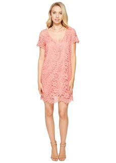 BB Dakota Rene V-Neck Lace Shift Dress