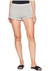 BB Dakota Ruffle Patrol Sweater Knit High-Waisted Ruffle Shorts