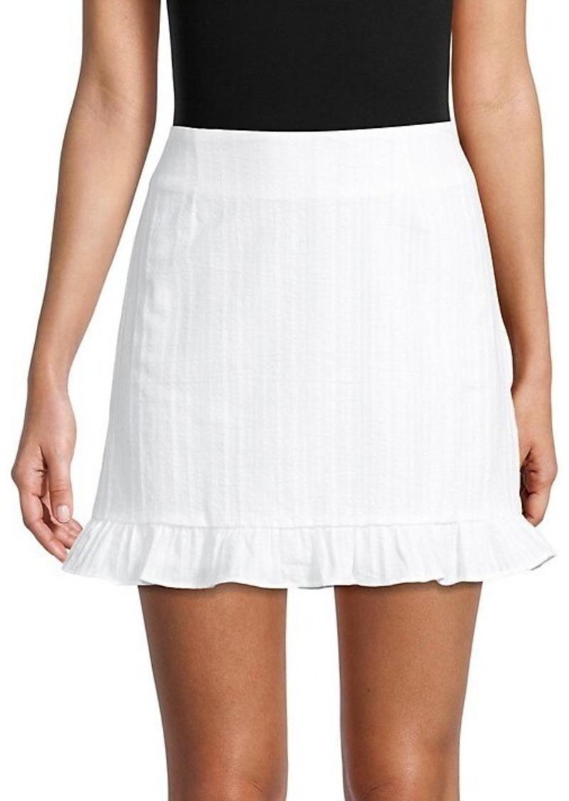 BB Dakota Ruffled Cotton Mini Skirt
