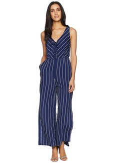 BB Dakota Scout Embroidered Pinstripe Jumpsuit