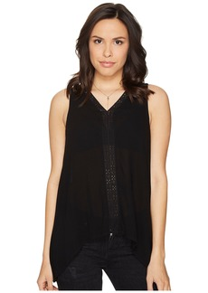 BB Dakota Selenium Rayon Crepe Ribbon Trim Tank Top