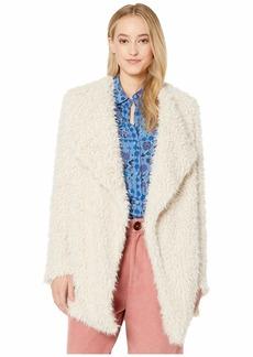 BB Dakota Soft Serve Wubby Drape Front Coat