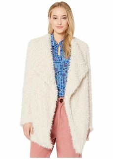 BB Dakota Soft Serve Wubby Drape Front Coat