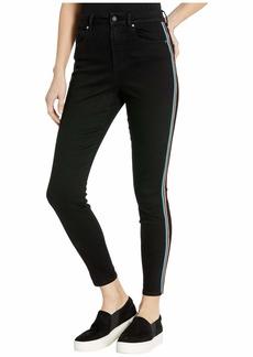 BB Dakota Stay Cool Jeans with Contrast Stripe in Black