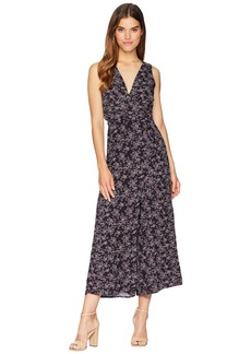 "BB Dakota Swish Swish ""Deep Blue Ditsy"" Printed Rayon Crepe Maxi Jumpsuit"