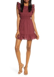 BB Dakota Swiss Dot Ruffle Mini Dress