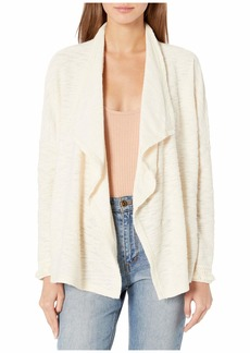 BB Dakota Womens Ayala Marled Eyelash Fuzzy Sweater Cardigan