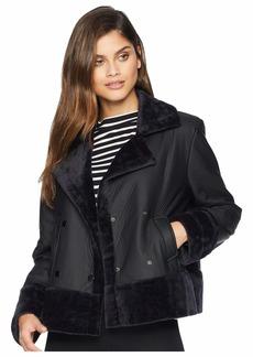 BB Dakota Total Eclipse Bonded Faux Fur Jacket
