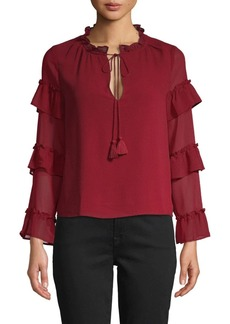 BB Dakota True Romance Tiered Ruffle Top