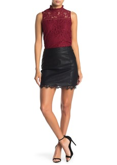 BB Dakota Waiting For Tonight Faux Leather Mini Skirt