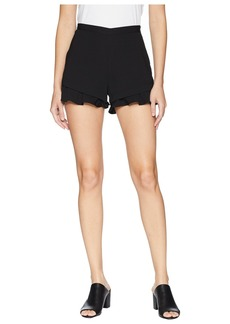 BB Dakota Weekend Warrior Textured Rayon Ruffle Shorts