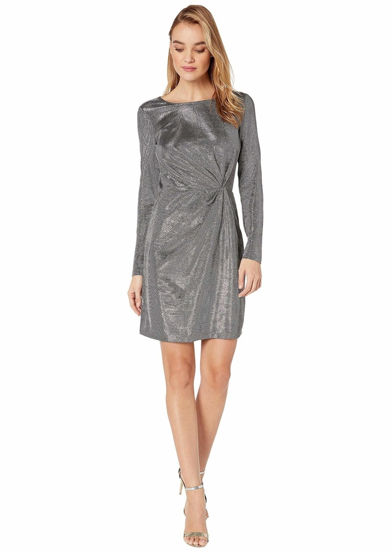 BB Dakota What's Your Shine Metallic Long Sleeve Dress