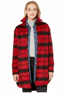 BB Dakota Wild Woolly Brushed Plaid Coat