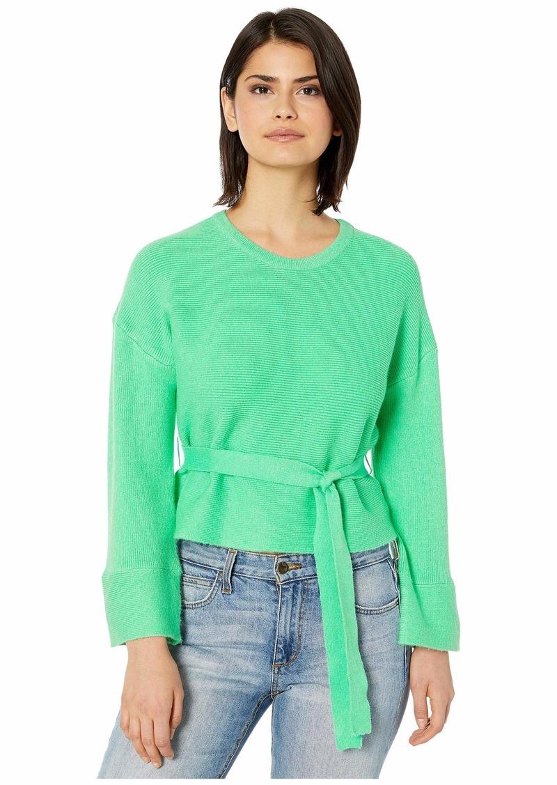 BB Dakota Woman In Love Ribbed Belted Sweater