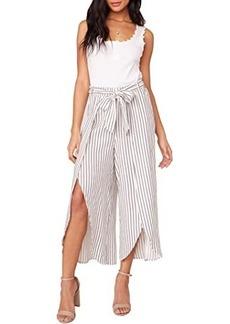 BB Dakota Yarn-Dye Rayon Stripe Faux Wrap Pants