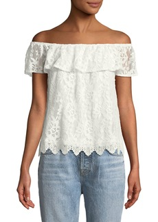 BB Dakota Zahara Lace Off-the-Shoulder Top