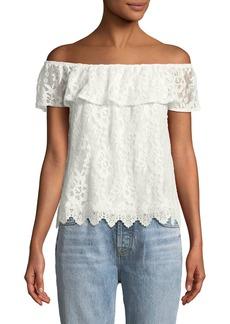 BB Dakota Zahara Lace Off-the-Shoulder Top