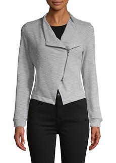 BB Dakota Zip-Front Knit Jacket