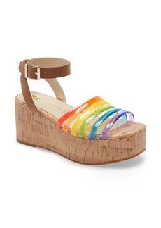 BC Footwear Sorry Not Sorry Platform Wedge Sandal (Women)
