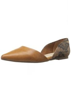 BC Footwear Women's Society Python Pointed Toe Flat   M US