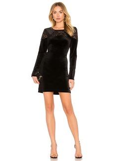 A Line Dress In Black Combo