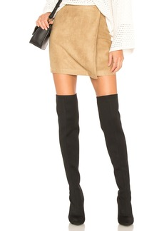 A Line Faux Suede Skirt
