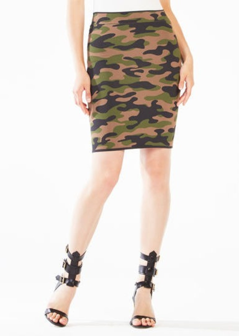 BCBG Aavan Camouflage Power Skirt