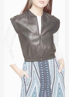 Ace Faux-Leather Vest