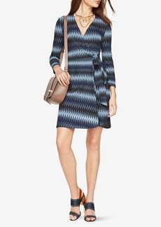Adele Striped Wrap Dress