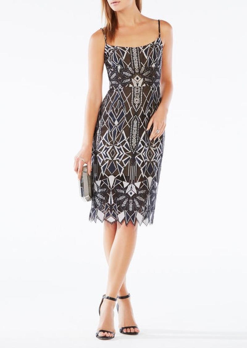 BCBG Alese Deco Lace Dress