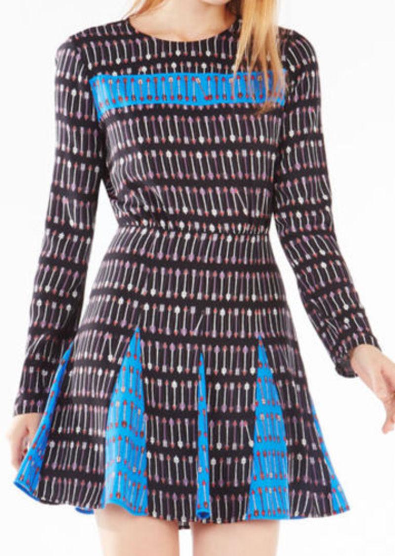 BCBG Amabel Cupid Stripe Print-Blocked Dress