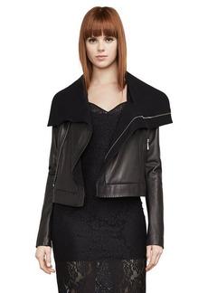 Ariane Leather Wrap Coat