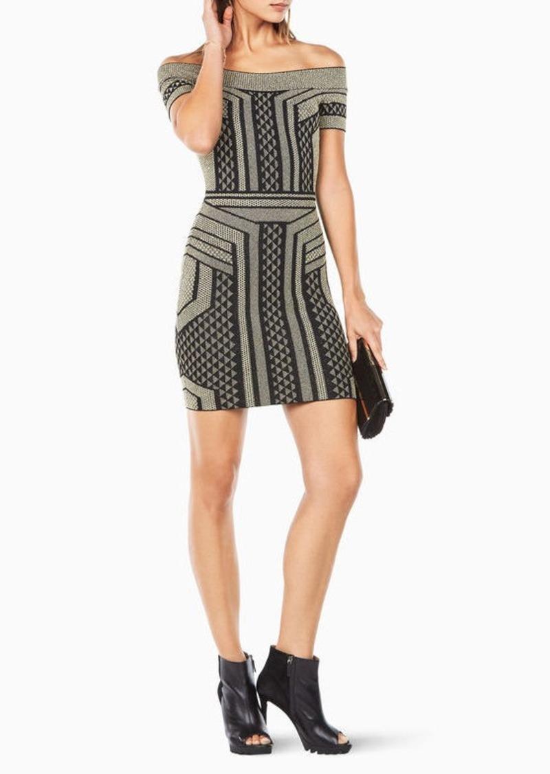 BCBG Arya Off-The-Shoulder Dress