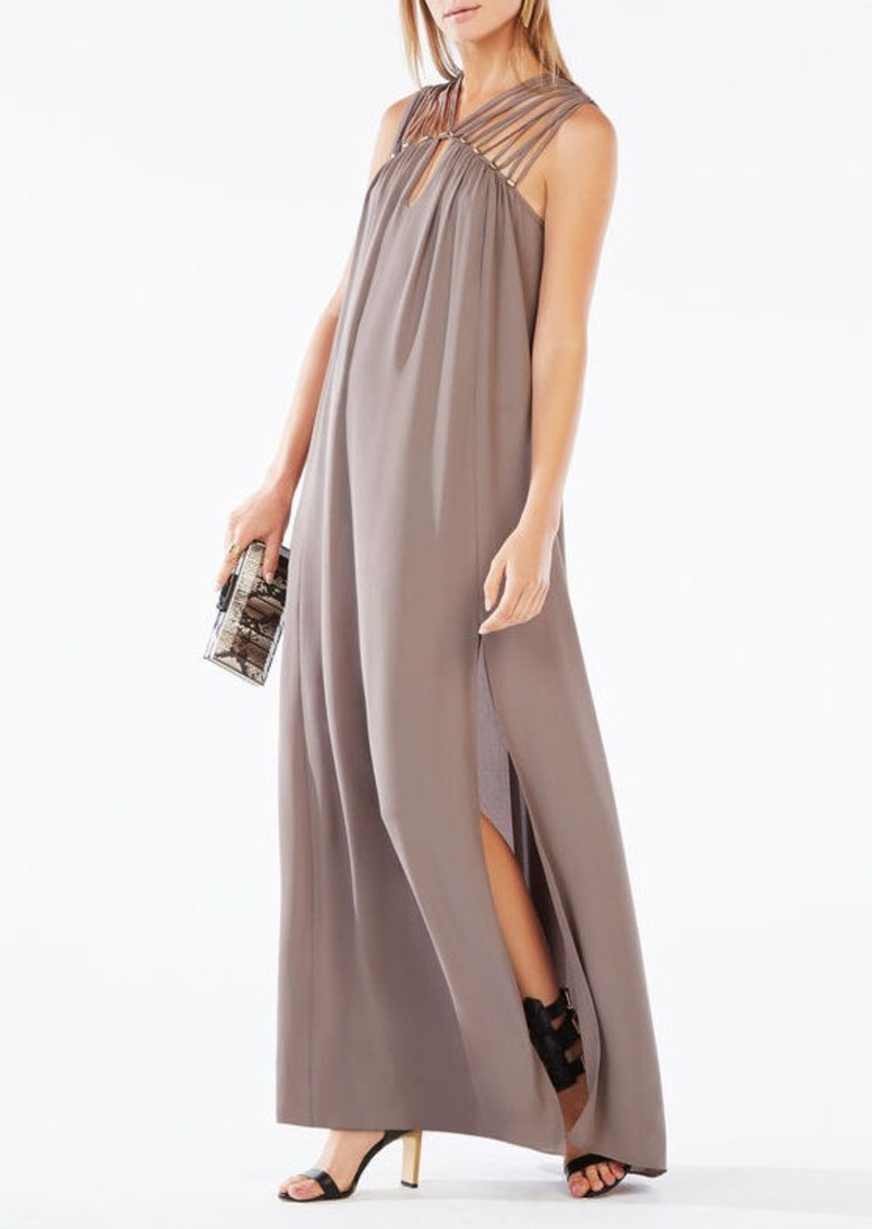 BCBG Audrii Multi-Strap Maxi Dress
