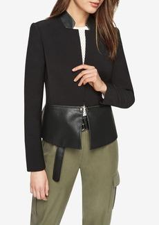 Barrett Faux-Leather Peplum Jacket
