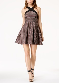 Bcbg Crisscross Jacquard Fit & Flare Dress