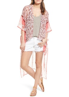 BCBG Floral High/Low Wrap