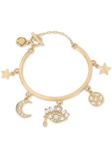 Bcbg Gold-Tone Crystal Mystical Charm Bracelet