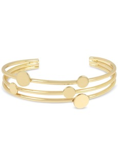 Bcbg Gold-Tone Disc Multi-Row Cuff Bracelet