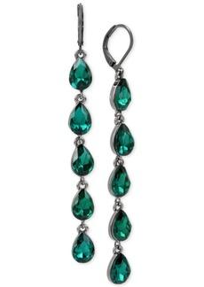 Bcbg Hematite-Tone Stone Linear Drop Earrings